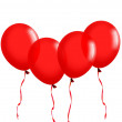 Red balloons with ribbon — Stock Photo #7871434