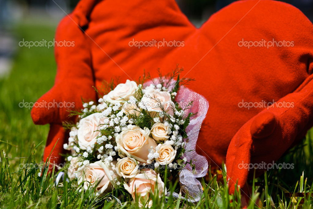 Close up of wedding bouquet — Stock Photo #6904623