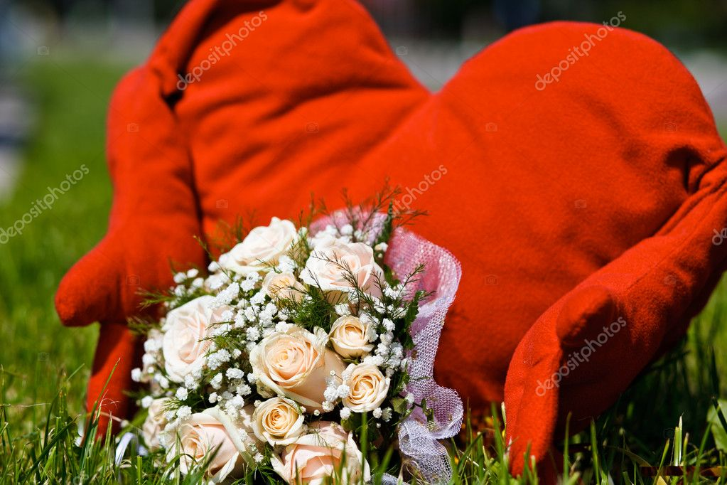 Close up of wedding bouquet — Stock Photo #6904646