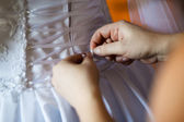 Beautiful bride's dress — Stock Photo