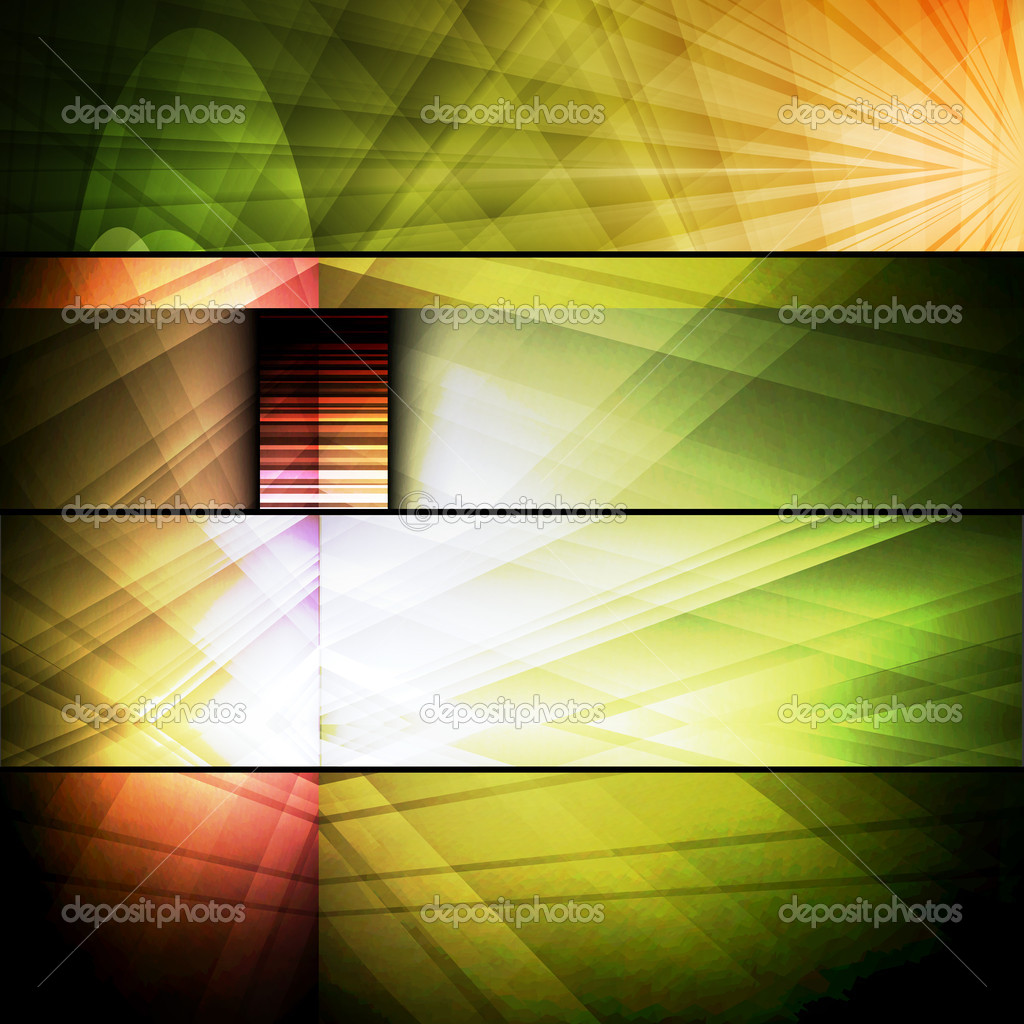 Set of abstract frames - Stock Illustration