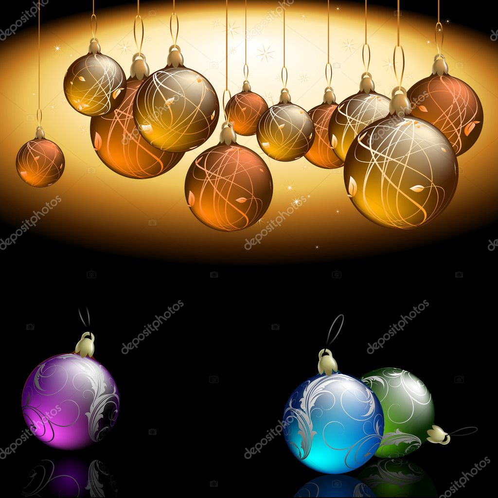 Christmas background, this illustration may be useful as designer work  Stock Vector #7238855