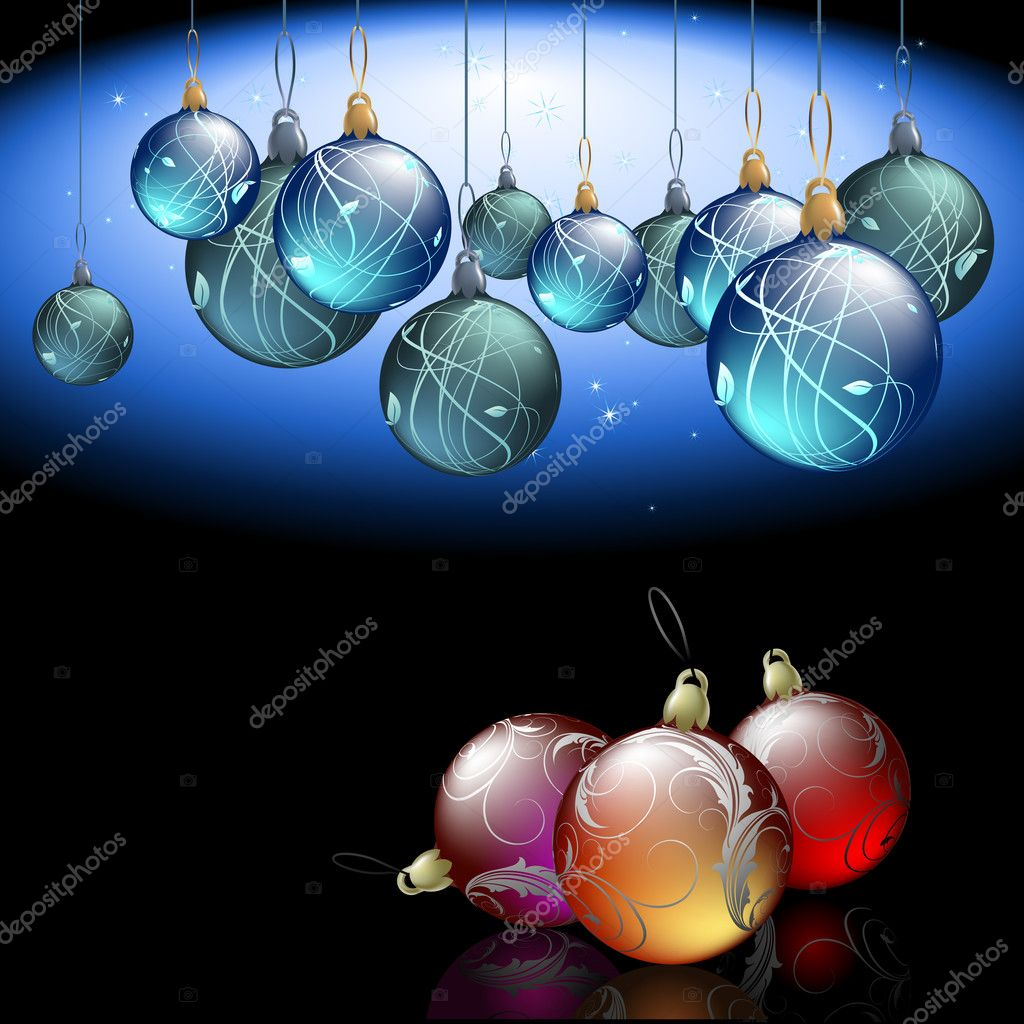 Christmas background, this illustration may be useful as designer work — Stock Vector #7238879