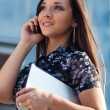 Woman calling by mobile phone — Stock Photo #7233634