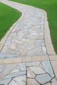 Garden brick path — Stock Photo