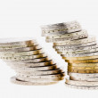 Pile of various coins — Stock Photo