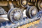 Tank wheels — Stock Photo