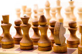 Wooden chess — Stock Photo