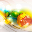 Globe on abstract background — Stock Photo #7399918