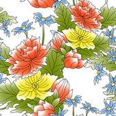 Flower decor seamless — Stock Photo
