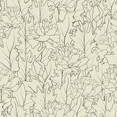 Kwiat pole wiersza — Wektor stockowy