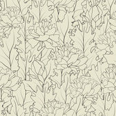 Flower field line — Stock Vector