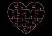 Puzzle heart — Stock Photo