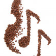 Stock Photo: Coffee music