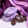 Aromatic soap with herbs — Foto Stock
