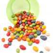 Colorful candy with bowl — Stock Photo