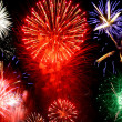 Stock Photo: Bright fireworks