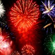 Foto de Stock  : Bright fireworks