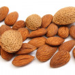 Heap of almond nuts — Stock Photo