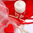 Valentine candles — Stockfoto