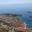 Town of Hvar from air — Stock Photo