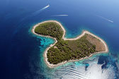 Island Jerolim from air — Foto Stock