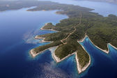 Island Hvar from air — Stock Photo