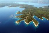 ön hvar från luften — Stockfoto