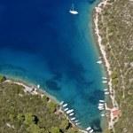 Bay on island Hvar from air — Stock Photo #7146943