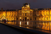 Paris, Louvre, night — Stock Photo