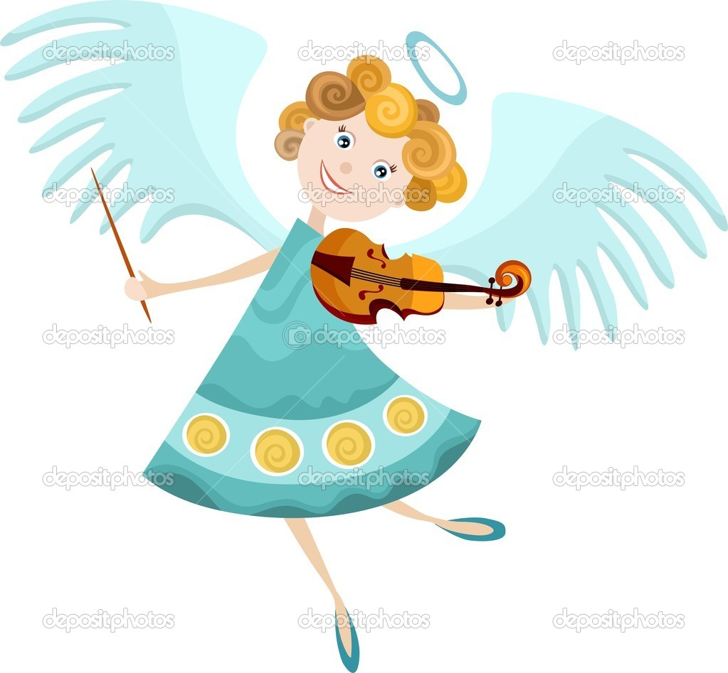 Vector illustraton of a angel — Stock Vector #6973724