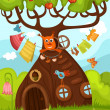 Fairy tree — Stock Vector