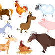 Farm animal set — Stockvectorbeeld