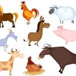 ファーム動物セット — ストックベクタ