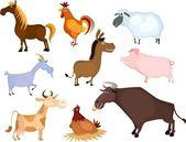 çiftlik hayvan seti — Stok Vektör
