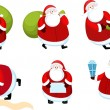 Santa claus set — Vector de stock