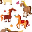 Horse set — Vector de stock