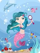 Mermaid — Stock Vector