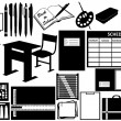 Different objects for school - Stock Vector