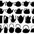 Stock Vector: Teapots