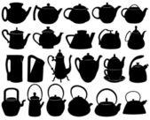 Teapots — Stock Vector