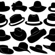Hats illustration - Stockvectorbeeld