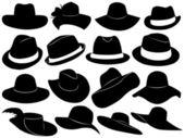 Illustrazione di cappelli — Vettoriale Stock