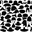 Different kinds of hats — Stock Vector