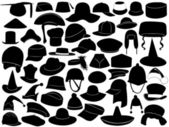 Different kinds of hats — Vettoriale Stock