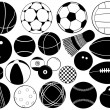 Stock Vector: Different game balls