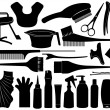 Equipment for hair dyeing - Stock Vector