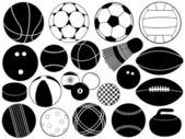 Different game balls — Stock Vector