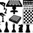Illustration of chess pieces - Stock Vector