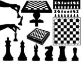 Illustration of chess pieces — Stock Vector